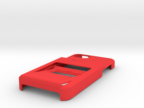 Tank iphone5 Opener case w/3CC and 1ID holder in Red Processed Versatile Plastic