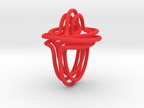 Vines pendant in Red Processed Versatile Plastic