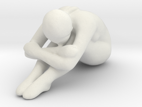 Female Sculpture 70mm in White Strong & Flexible