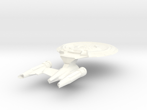 USS Parker Medium in White Strong & Flexible Polished