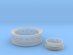 1/8 Front Wire Wheel (rim/hub) for 1/8 Revell Deuc in Frosted Ultra Detail