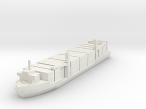 Singapore Tech. 400TEU Container Ship 1:1800 in White Natural Versatile Plastic