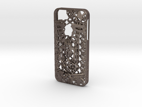 Kraai iPhone 5 Cover in Polished Bronzed Silver Steel