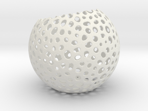 Non bowl sphere in White Natural Versatile Plastic