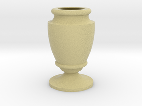 Flower Vase_21 in Full Color Sandstone