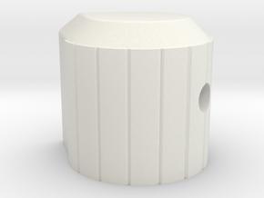 Indicator Knob in White Natural Versatile Plastic