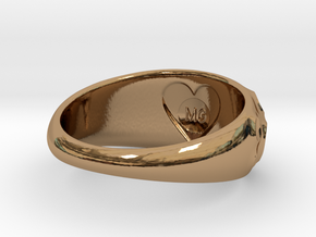 Volcanic Crater Ring in Polished Brass