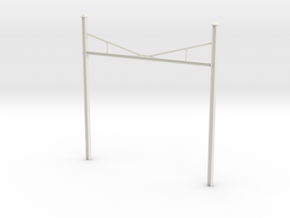 Catenary Pole Economy Size in White Natural Versatile Plastic