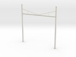 Catenary Pole Economy Size in White Natural Versatile Plastic