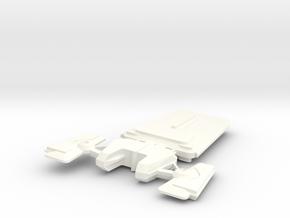 Andorian Cruise Destroyer in White Processed Versatile Plastic