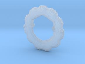 Flower Bracelet in Smooth Fine Detail Plastic