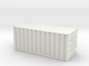 20ft Container Ribbed, (NZ120 / TT, 1:120) in White Strong & Flexible