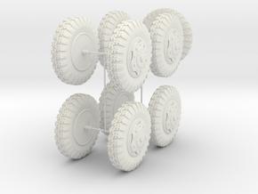 German 1:18 Sd.Kfz. 234/2 Puma Wheels in White Natural Versatile Plastic