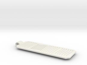 5th element necklace cartouche in White Natural Versatile Plastic