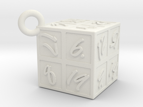 Magic100Cube in White Natural Versatile Plastic