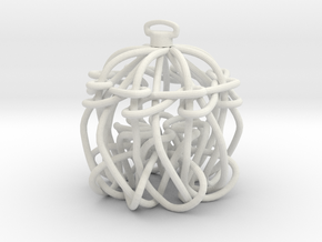 Knot Ornament in White Natural Versatile Plastic