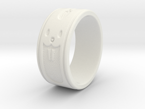 ring5 in White Natural Versatile Plastic