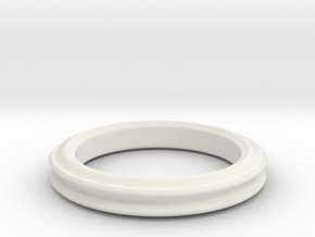 Sinus periodic ring in White Natural Versatile Plastic