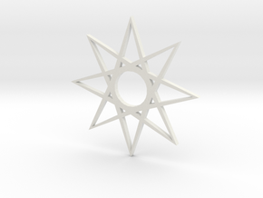 star1 ornament by Jorge Avila in White Strong & Flexible