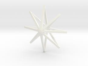 star2 ornament by Jorge Avila in White Processed Versatile Plastic