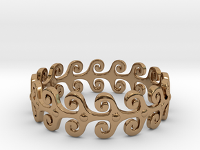 Wave Ring in Polished Brass