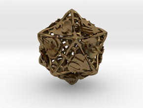 Botanical d20 (Aspen) in Natural Bronze