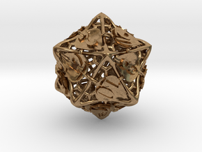 Botanical d20 (Aspen) in Natural Brass