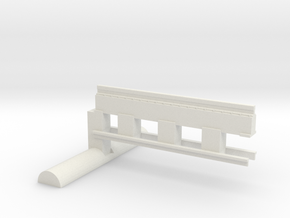Bardford & Foster Brook Straight Track in White Natural Versatile Plastic