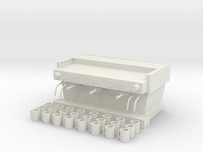 Espresso Machine with 24 Cups in White Natural Versatile Plastic