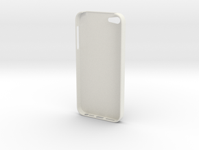 iPhone 5 Skull Case in White Natural Versatile Plastic