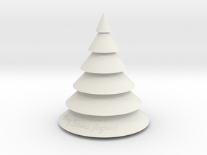 Christmas Tree in White Natural Versatile Plastic