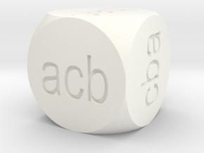 Ordering D6 in White Processed Versatile Plastic