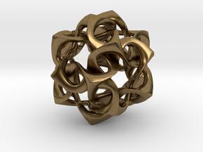 Icosahedron I, pendant in Natural Bronze
