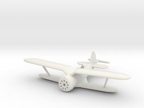 1/144 Polikarpov I-153, Wheels retracted in White Natural Versatile Plastic