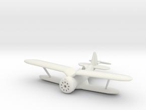 1/144 Polikarpov I-153, Wheels retracted in White Natural Versatile Plastic