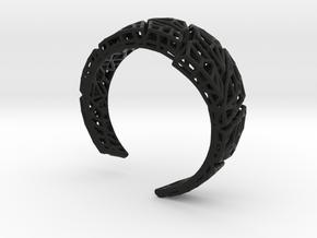 VoronoiBracelet v020.5 Medium Rare (a stronger v02 in Black Natural Versatile Plastic