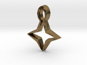 Star Pendant in Natural Bronze