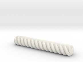 Knob for cabinet with 1/4-20 threads in White Natural Versatile Plastic