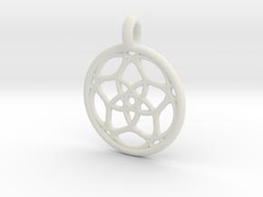 Himalia pendant in White Natural Versatile Plastic