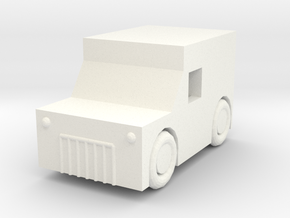 A simple wagon in White Strong & Flexible Polished