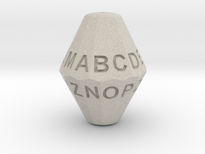 D26 Alphabet Dice in Natural Sandstone