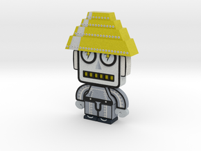 DevoBot Series 2 B/W with yellow energy dome, Josh in Full Color Sandstone