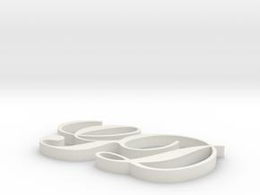 GD in White Natural Versatile Plastic