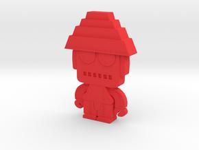 DevoBot Series 1 Yellow Bio Suit + Glasses: Mark M in Red Processed Versatile Plastic