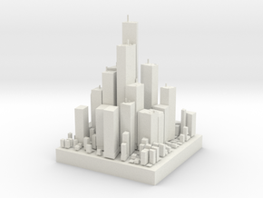 Micro City in White Natural Versatile Plastic