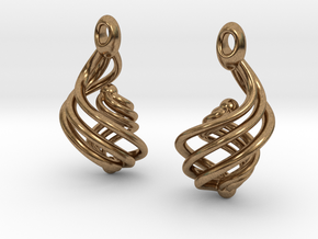Passionate Fire Earrings in Natural Brass
