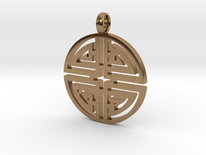 Longevity Pendant in Natural Brass