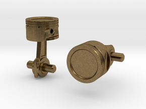 Piston Cufflinks in Natural Bronze