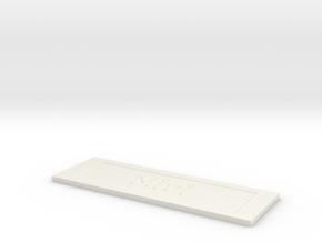 by kelecrea, engraved:         Miri  in White Natural Versatile Plastic