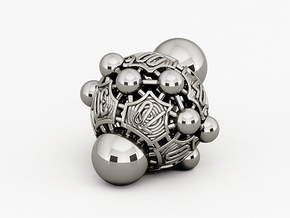 Nucleus D00 in Polished Bronzed Silver Steel